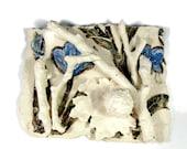 Porcelain Ceramic Wall Sculpture - Wall Hanging -  Flower Garden II - Handmade Pottery - Ready to Ship