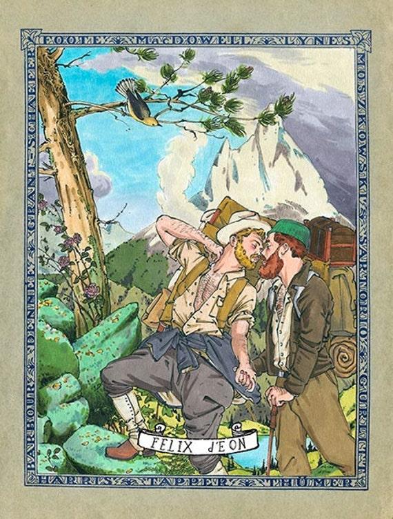 Rocky Mountain Romance Bear Hiking Gay Camping Nature Love