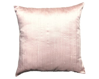 Pink Pillow Cover -- Silk Pale Pink Throw Pillow Cover -- 18 x 18