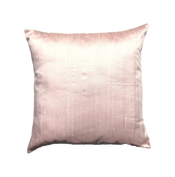 Items similar to Pink Pillow Cover -- Silk Pale Pink Throw Pillow Cover -- 18 x 18 on Etsy
