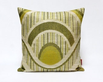 Vintage fabric cushion cover, 70s retro, throw pillow, 16 x 16 - 40x40 cm