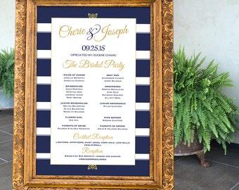 Gold Wedding Decor, Black & Gold Party Decor, Navy and Gold Wedding Sign Printable, Wedding Party Sign, Art Deco Wedding, Welcome Sign