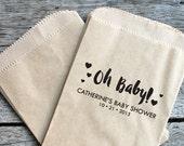 Baby Shower Favors Stamp, Oh Baby Stamp, Custom Stamp, Self Inking Stamp, Custom Rubber Stamp, diy Party, Gift Tag Stamp, Baby Shower stamp1