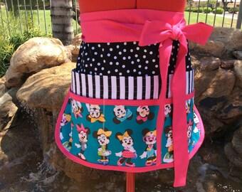 Teacher Sassy Half Apron, Back to School Apron, 6 pockets, Plus Sizes, great for Vendors, Utility, Gardening, Teacher Gifts