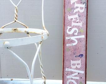 Beach , Nautical, Nursery Decor, Star Fish, Girls Room Decor, Princess Room, Painted Wood Sign, Reclaimed Wood, Pink Sign, Cottage, Gift gir