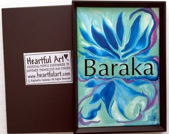 BARAKA Divine Essence Inspirational Yoga Meditation Islam Blessing Gift Higher Consciousness Metaphysical Heartful Art by Raphaella Vaisseau