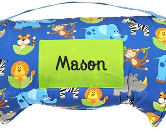 Zoo Nap Mat Personalized Boy Daycare Preschool Monogrammed Toddler