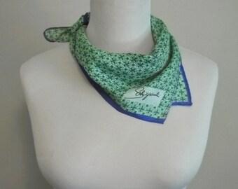 Vintage SCHIAPARELLI Designer Silk Scarf Geometric Squares