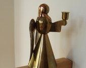 Vintage Brass and Copper Angel Candleholder