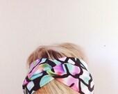topTwist Headband - Turban Headband - Soft Stretch Fabric - Stained Glass Headband - Hairband - Headwrap - Twisted Headband