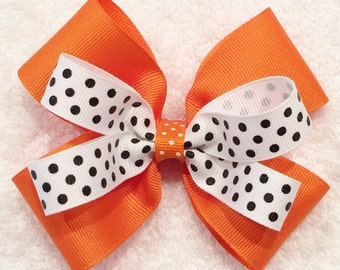 Girl Orange Hair Bow
