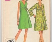 "Vintage Sewing Pattern Simplicity 8133 Ladies' Designer A-line Dress 34"" Bust - Free Pattern Grading E-book Included"