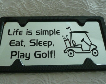 Etched Mirror with Golf Theme