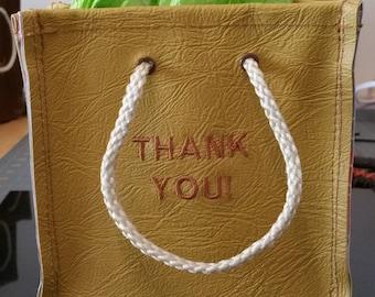 Unique 'Thank You' Keepsake Vinyl Gift Bag