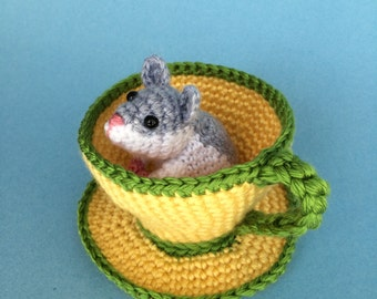 HAMSTER in TEA CUP Pdf Crochet Pattern