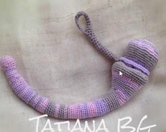 Crochet chunky bangle bracelet