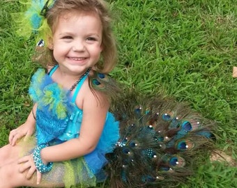 Custom Made Authentic Peacock Wild Theme Costume, Pageant, Dance and more