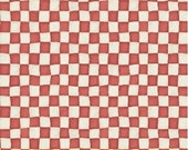 Alice Adventures in Wonderland  cotton quilting fabric coordinate Checkerboard W30854-4 red, by the half yard