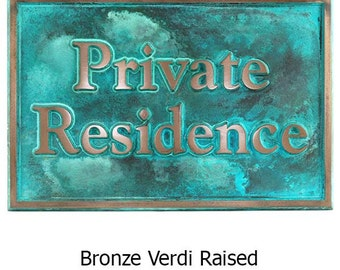 Beveled Edge Private Drive Security Sign 18 x 12 inches