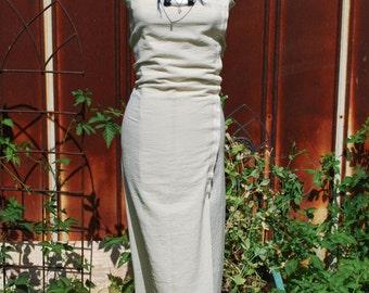 Natural Cotton Ivory Beach Wedding Maxi Dress