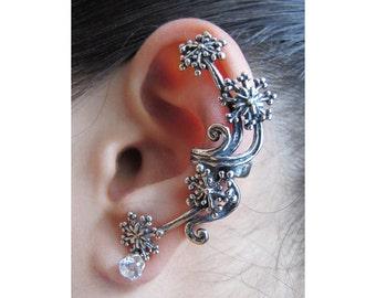 Star Ear Cuff Silver Star Earring Star Jewelry Starburst Ear Cuff Snowflake Jewelry Fireworks Celebrity Style Minimalist Ear Cuff