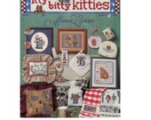 Cat Craft Cross Stitch Booklet Itty Bitty Kitties Instructions for 16 cute cat designs - Alma Lynne - Jeanette Crews Design - Embroidery