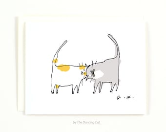 Headbutt Cat Card - Love You Card - Thinking of You Card