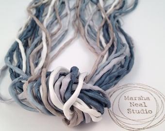 2mm Silk Ribbon Cord Winter Wonderland Marsha Neal Studio Color Palette Craft Supplies Jewelry Supplies