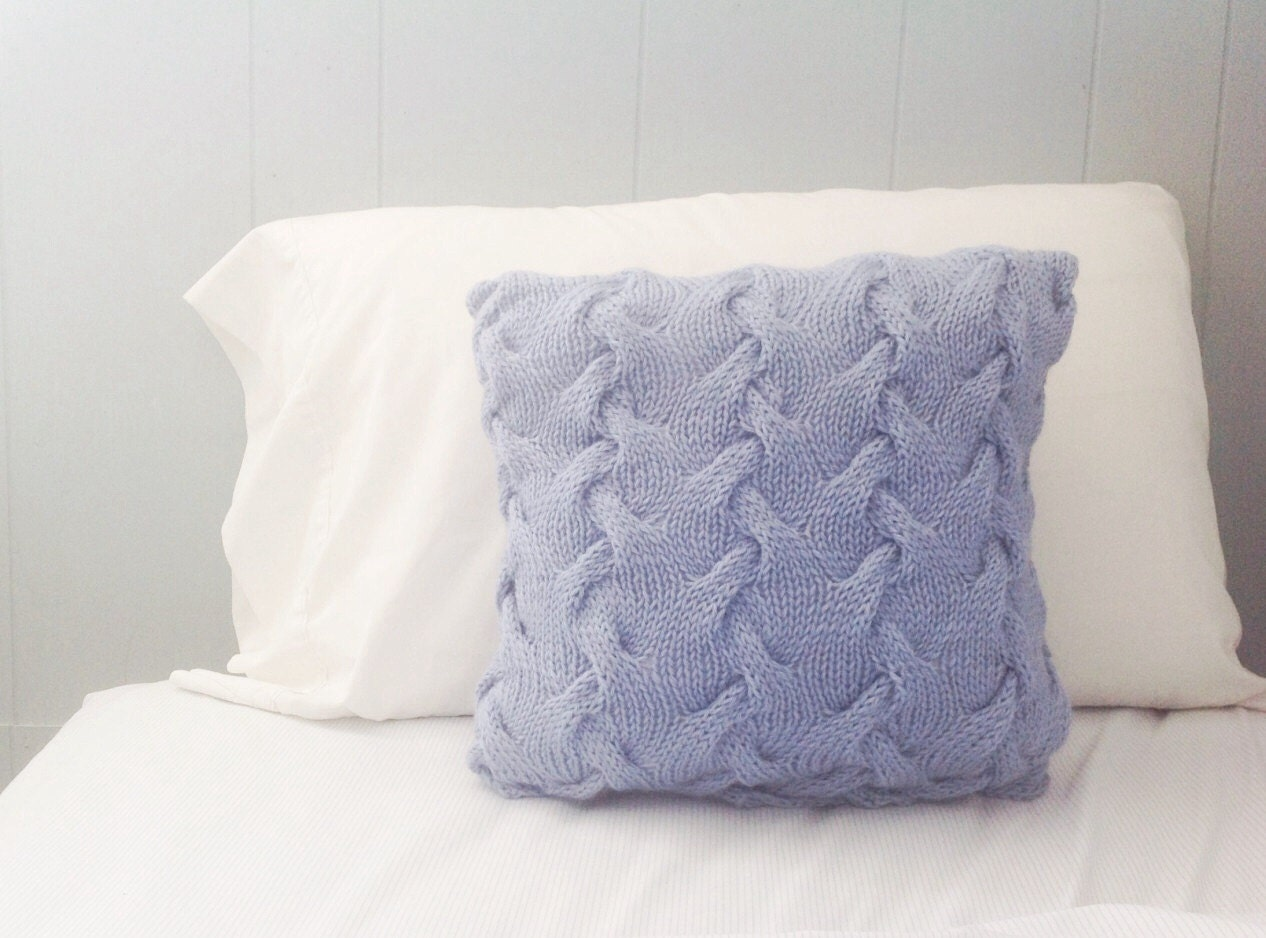 Knit Throw Pillow Cover Pattern : Knit Throw Pillow Knit Pillows Bed Pillow Cover Knitted