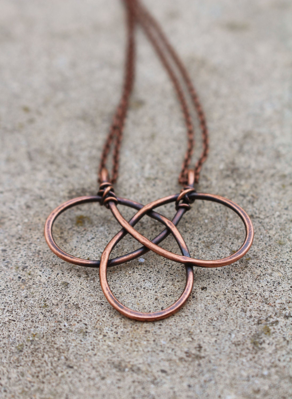 Metal Wire For Jewelry : Celtic knot oxidized copper wire jewelry