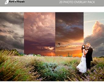 Sunset Photoshop Overlays, Images, Photography effects, photoshop overlay image pack, sky photography, sky overlay