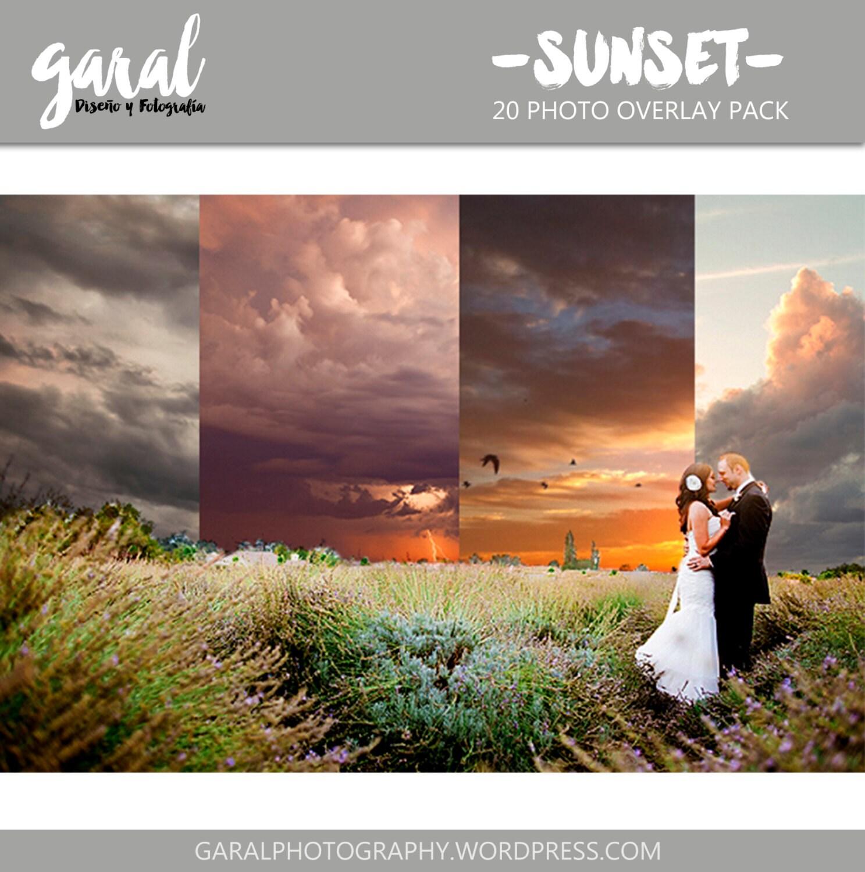 Sunset Photoshop Overlays Images Photography Effects