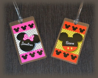 Luggage Tag - Mickey or Minnie Mouse for Disney Cruise Vacation
