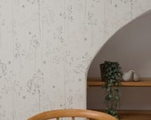 A4 SAMPLE of Meadow Grass wallpaper in oatmeal & blush