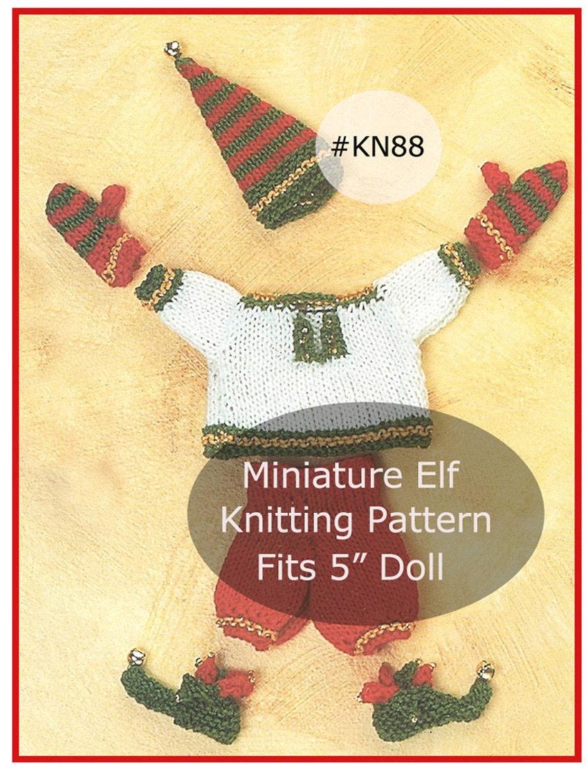 Mini Elf Knitting Pattern : Elf Knitting Pattern 5 Miniature Doll Clothes Elf