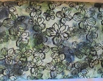 Green Blue Cabana Batik Fabric - Moda - 4121 16