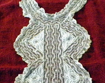 Antique Handmade Needle Lace Jabot/Collar - 1800-1900s Exquisite Detail Excellent Condition