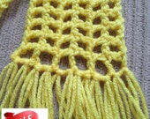 SALE Scarf, Filet, Bright Yellow, Ready to Ship