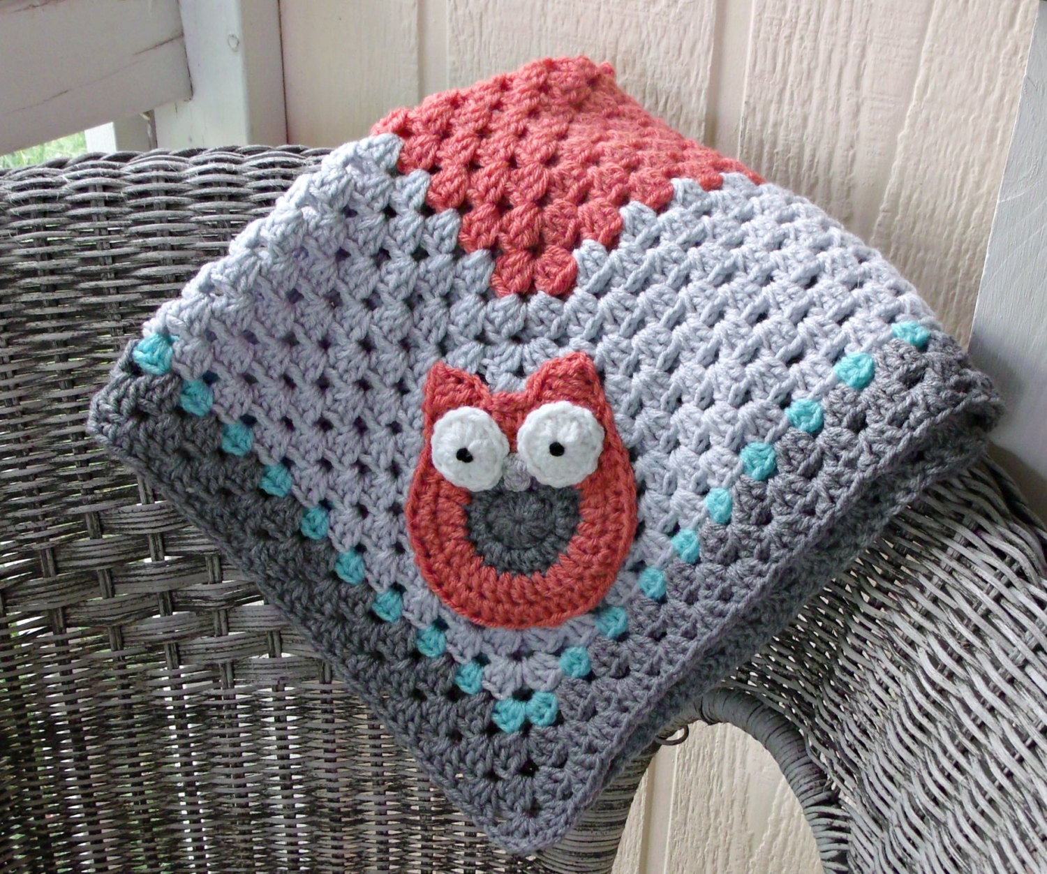 Crochet Owl Baby Blanket : Kitchen & Dining