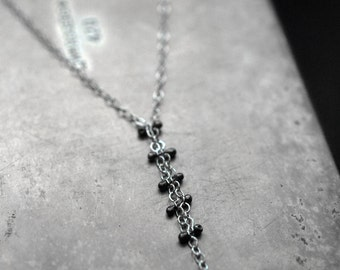 "The way I am (1"" drop)- sterling silver pinned necklace"