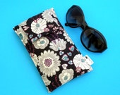 Roomy Sunglasses Case in a Design of Hearts and Flowers
