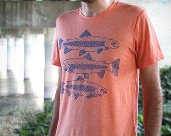 Fish Tee - Mens Canvas Brand - Heather Orange