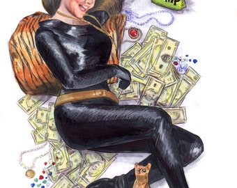 Batman 66 Catwoman - Julie Newmar Pin up Print