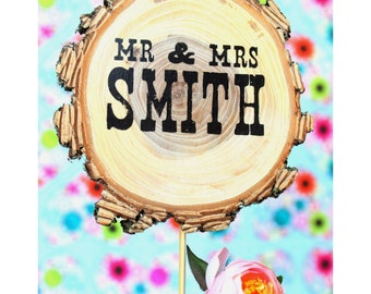 Wedding Cake Topper - Monogram Topper - Wedding Decorations