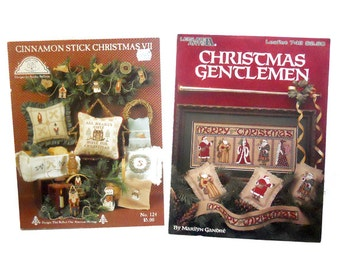 Santas Cross Stitch, Christmas Ornaments Cross Stitch, Christmas Cross Stitch, Vintage Cross Stitch, Craft Books by NewYorkTreasures on Etsy