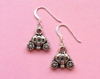 Disney earrings, princess earrings, cinderella jewellery gift idea, pumpkin carriage earrings, cinderella jewelry, girl birthday gift UK