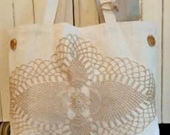 Canvas Tote Bag Old Lace Decoration RDT OFG FSET