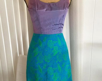 Sassy Little Vintage Two Piece Sak's Fifth Avenue Dress and Over-Top -- Size S