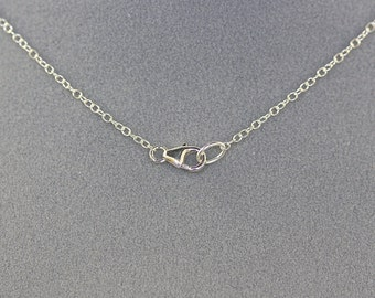 "20"" Silver Chain - Chain for Pendant - Silver Chain - Sterling Silver Chain - Chain for Pendant - Open Link Chain - Simple Necklace - Gift"