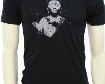 Siddhārtha Gautama Buddha| Soft Lightweight T Shirt| men's unisex| Crew and V-neck| Yoga apparel| Meditating Buddha| Gift for him and her.